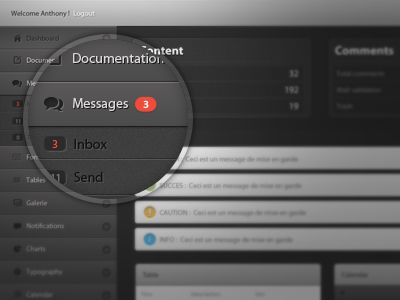 UI Dashboard by Anthony Aubertin #UX #UI #interface #design #app #iphone