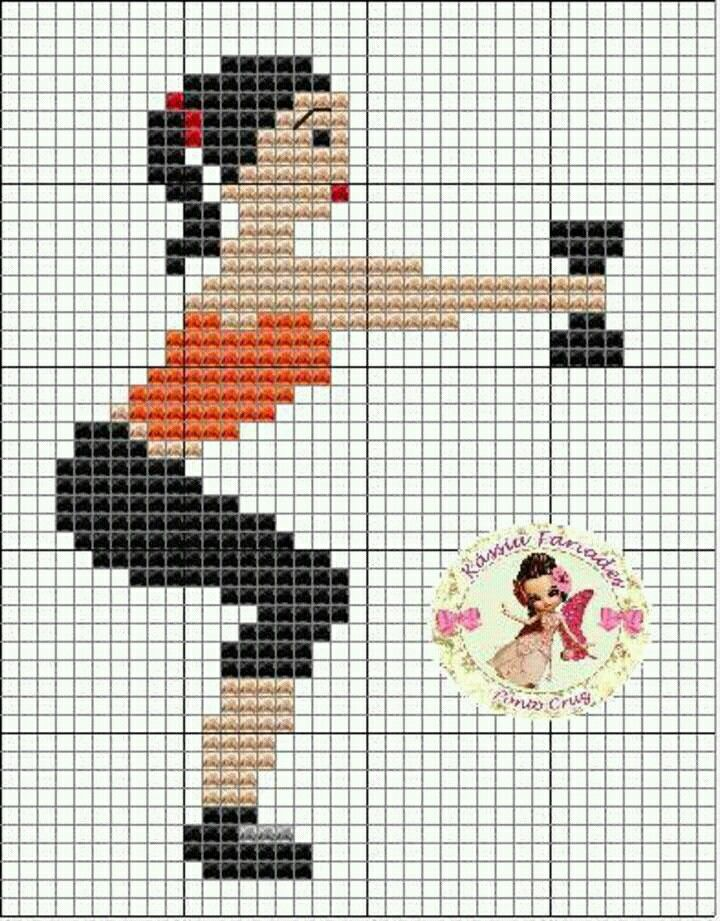 Cross stitch fitness exercise