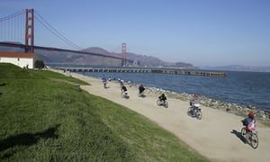 San Francisco's Crissy Field, the site of the rightwing rally. Dog owners are said to be stockpiling excrement to carpet the field.   Just what I expect from these scum bags.  Literally brown shirts.