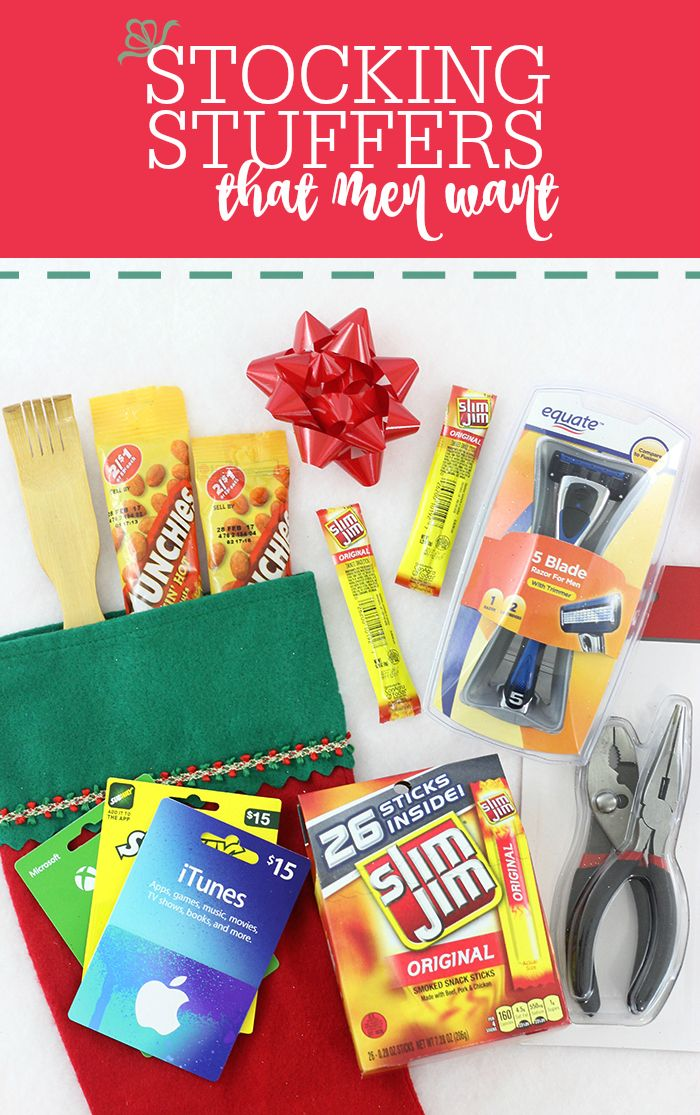 Stocking Stuffers that men will actually like. Flush mental holiday block and get these foolproof ideas for Christmas. #SnappyStockingsWM AD