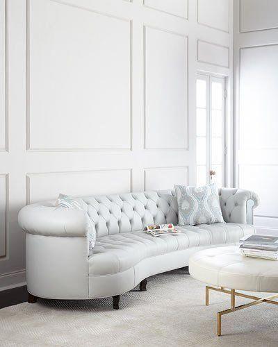 haute house rebecca leather mirrored sofa a few black leather sofa rh pinterest com