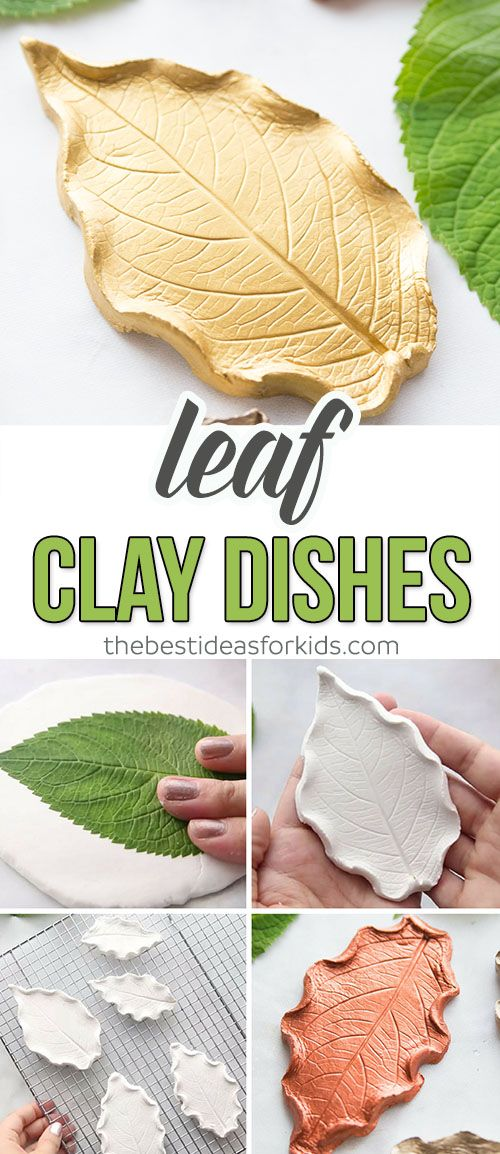 Leaf Clay Dishes Craft for Kids – this is the perfect Fall craft for kids. Use l…
