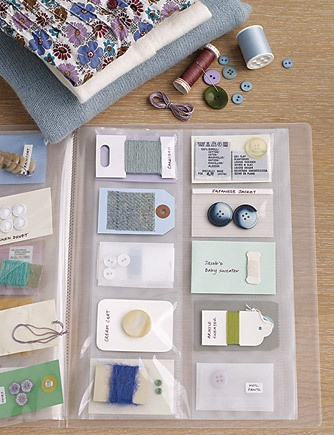 Organise spare buttons for clothes