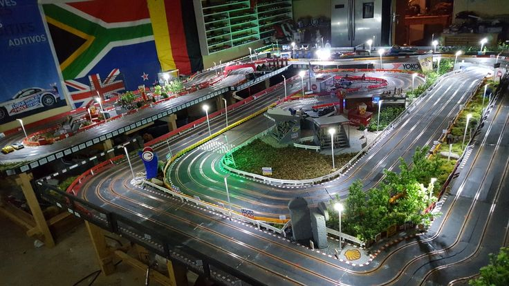 Different angle of slor car track. Home track South Africa