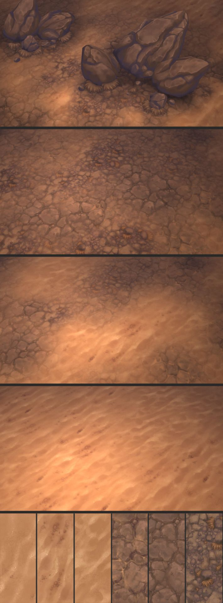 Texture Set 16Another truly amazing texture set by Antonio Neves is done and available for download on the Bitgem Website. This time it even contains a few rock models and grass plains for level decoration. :)