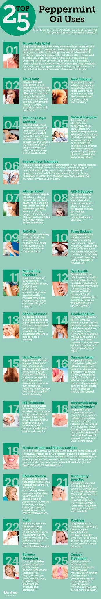 Top 25 ways to use peppermint oil