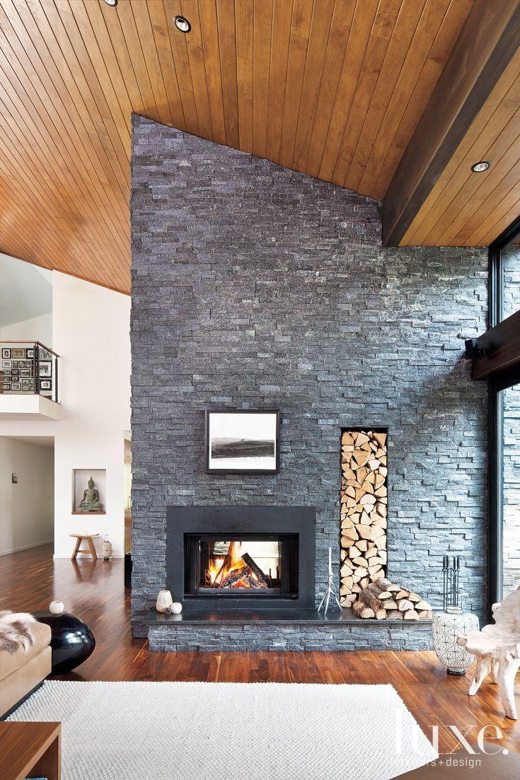 The 25+ best Modern stone fireplace ideas on Pinterest