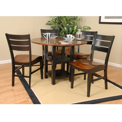 Aarons - Ligo Black and Cherry Oak Dining Group ...