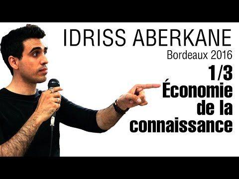 L'économie de la connaissance   Idriss ABERKANE - YouTube