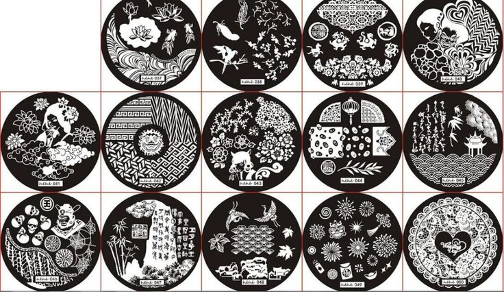 72PCS 72Patterns Stainless Steel Nail Art Stamping Plates Nail Seal Manicure Printer Tool Templates Nail Stamp Stencils (01-72)