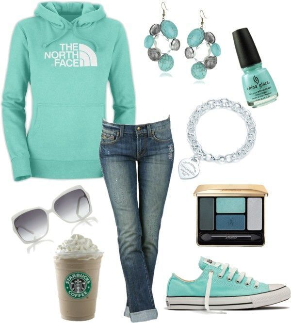 replace the frap w/whipped cream w/a quad grande nonfat no foam latte, we would be good!  love the outfit & accessories, though.