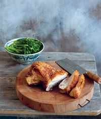 Crisp roast pork belly