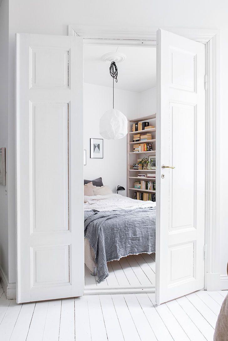 compact white apartment gothenburg 42 sqm home bedroom bedroom rh pinterest com