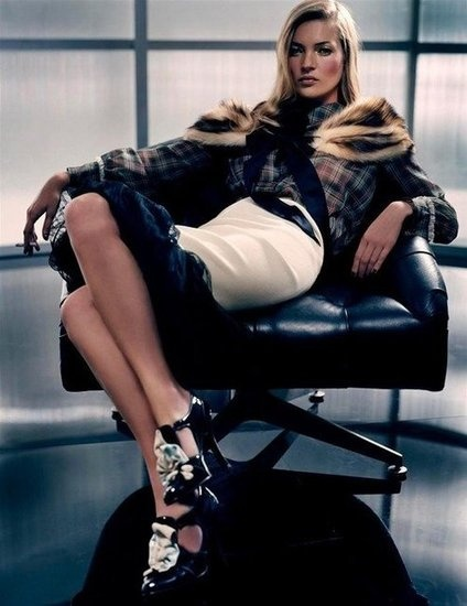 Moss Fashion Editorials: Harper's Bazaar March 2010  : W Magazine, May 2004