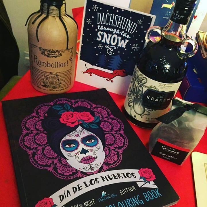 #christmas #alcohol #chocolate #colouringbook #rumbullion #kraken #happy
