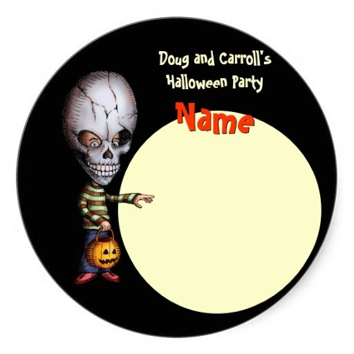 halloween party name tag skull kid - Names For A Halloween Party