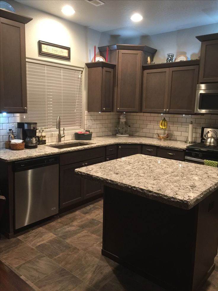 Bellingham Cambria Quartz Countertops With Dark Brown