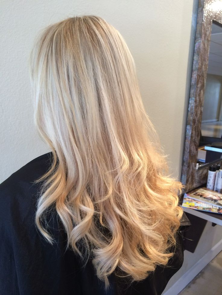 Blonde Ombre Hair With Highlights Blonde 2 Tone Highlights Full Head Bleach Blonde Hair