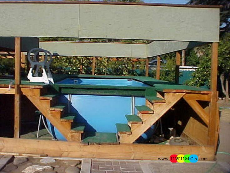Swimming pool swimming pool ladder pads above ground for Above ground pool ladder ideas