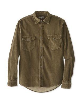 67% OFF Martin Gordon Men's Washed Corduroy Shirt (Olive)