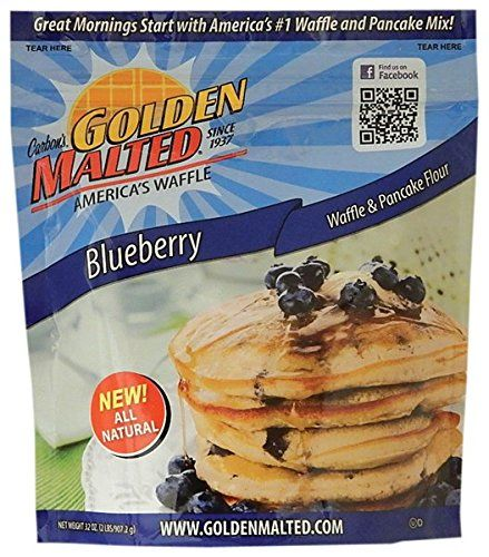 Golden Malted Blueberry Pancake  Waffle Flour 32 oz * More info could be found at the image url.(This is an Amazon affiliate link and I receive a commission for the sales)