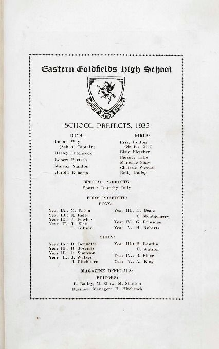 The Pegasus, 1935.  Eastern Districts High School.  http://encore.slwa.wa.gov.au/iii/encore/record/C__Rb1143387__Sschool%20magazines__P0%2C6__Orightresult__U__X3?lang=eng&suite=def