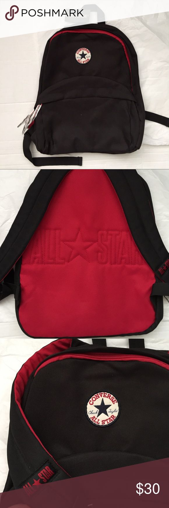 Converse All Star BackPack! NWT Converse All-Star black backpack! New with tags! Authentic! 14x12. Zipper closures. Padded and adjustable straps! Converse Bags Backpacks