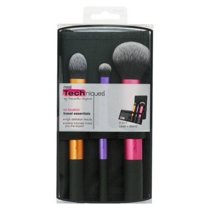 Real Techniques 3-pc Travel Essentials Brush Set