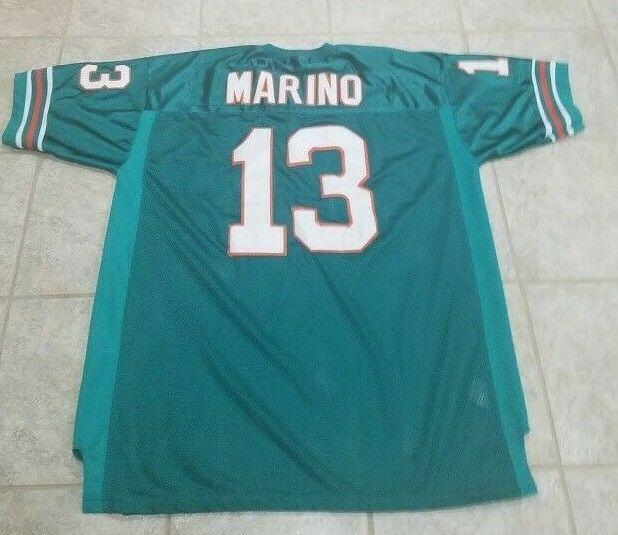 new product e0148 151da Vtg Miami Dolphins Football Dan Marino Mitchell & Ness ...