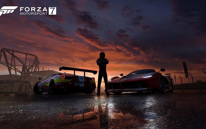 Descargar fondos de pantalla Forza Motorsport 7 De 2017, Ferrari 458 Italia, 4k, cartel, juegos nuevos