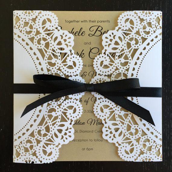 Laser cut wedding Invitations von DesignsbyBrea auf Etsy