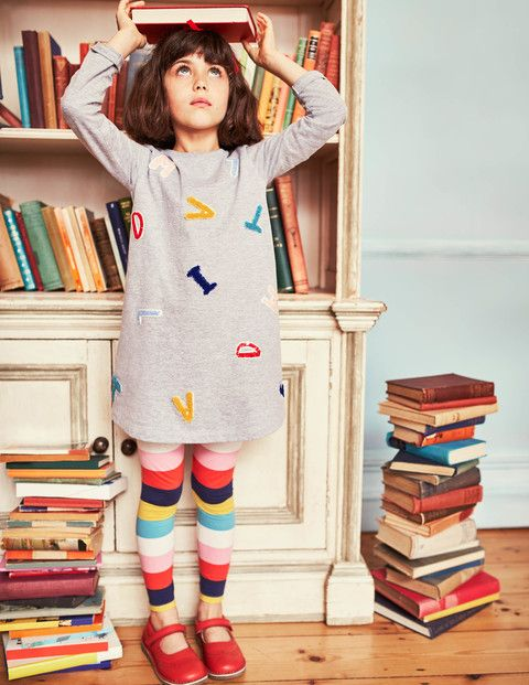 Alphabet Dress (Roald Dahl Collection) by Mini Boden