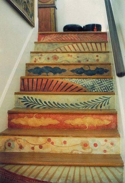 Cortinas De Baño Rayadas:Painted Stair Riser Designs