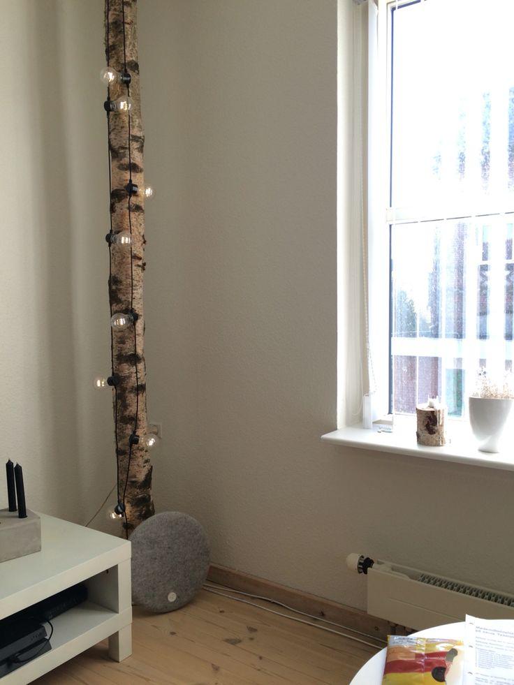 Tree wood birk livingroom DIY
