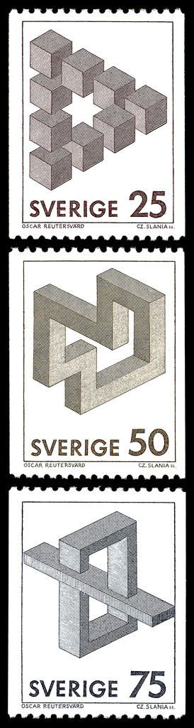 Optical illusion in Swedish stamps