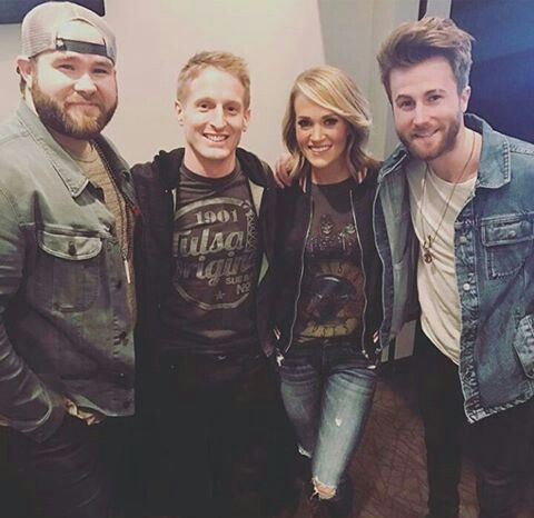 Carrie Underwood and the Swon brothers