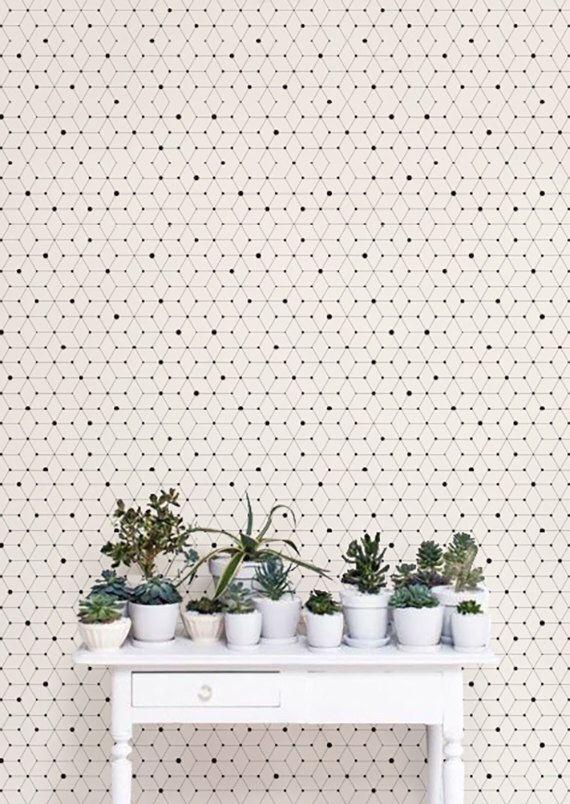 Minimalistic Geometric Removable Wallpaper / Self Adhesive Removable Wallpaper / Wall Mural / Wall covering - 121 by Betapet on Etsy https://www.etsy.com/listing/456745608/minimalistic-geometric-removable