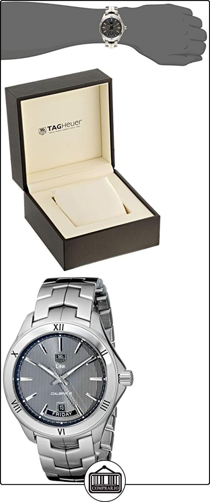 Tag Heuer pulsera de acero de 42mm para hombre & Case automático Gris Dial analógico reloj WAT2015. BA0951  ✿ Relojes para hombre - (Lujo) ✿
