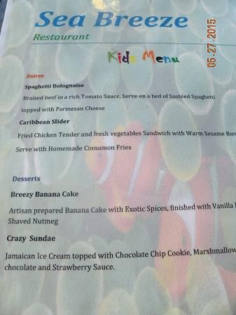 Holiday Inn Resort Montego Bay, Montego Bay Picture: Sea Breeze Menu - Check out TripAdvisor members' 14,918 candid photos and videos of Holiday Inn Resort Montego Bay