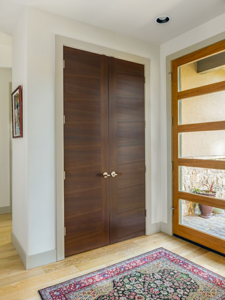 Elegant Interior Doors | This Is A Handsome Pair. A Stile Line Rift White Oak With