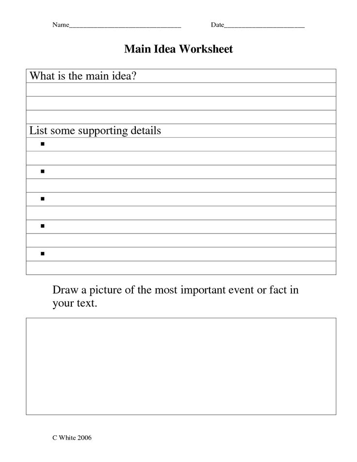 Main Idea Worksheets 5th Grade Main Idea Worksheets