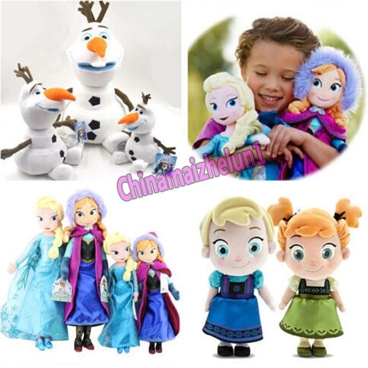 "FREE Movie Elsa Anna Olaf Snowman Kid Toy 16"" 20"" Teddy Toys Plush Dolls Party #Disney"