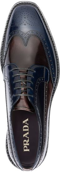 Prada SS2012 Brogue---Ohhh With pops of navy in his suit. Hot.--Pretty sure mens shoes arent supposed to turn me on as much as these do?