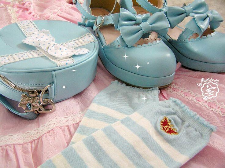 Still have my first ever lolita shoes and socks ♡  #babythestarsshinebright #btssb #baby #lolita #egl #eglcommunity #eglfinland #lolitafashion #shoes #fashion #babyblue #pretty #angelicpretty #ロリィタ #靴 #girly #lovely #summer #retro #pink #lace