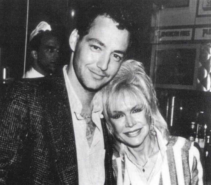 Dodd Darin (son of Sandra Dee and Bobby Darin) in   1991 with his mother.