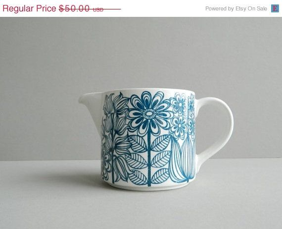 SALE 30 Arabia Finland Keto Pitcher by Esteri by MonkiVintage, $35.00