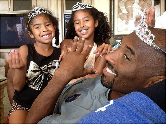 Kobe Bryant and his gorgeous girls
