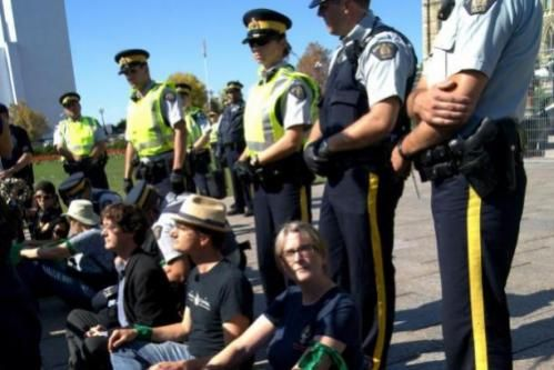 Provided photography coverage of protest in Ottawa.