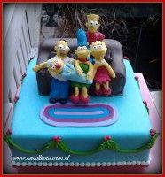 The Simsons cake