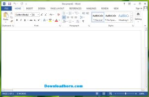 Microsoft Word 2013 is most popular and widely used text processor application by millions of users around the world. You can get the free trial copy of Microsoft Word 2013 from Microsoft Office store. The new version of Microsoft Word 2013 contains lots of new features with user friendly interface.